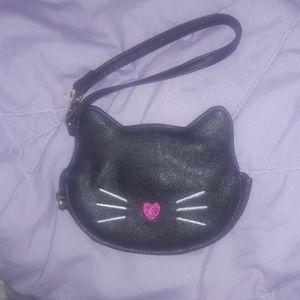 Betsey Johnson blacl cat wristlet